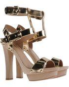 DSquared2 Block High-Heel Platform Sandals - Lyst