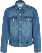 Acne Studios Blue Jam Vintage Wash Denim Jacket - Lyst