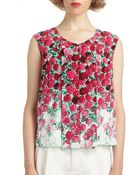 Marc Jacobs Silk Floral Top - Lyst