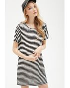 Forever 21 Striped Tee Shirt Dress - Lyst
