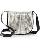 Alexander Wang Lia Leather & Python Small Shoulder Bag/Matte Black - Lyst