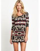 Denim & Supply Ralph Lauren Patterned Long Sleeved Dress - Lyst