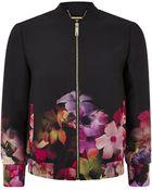 Ted Baker Giletta Cascading Floral Bomber Jacket - Lyst