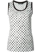 Dolce & Gabbana Large Polka Dot Print Tank Top - Lyst