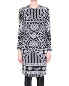 Ktz Cotton Jersey Bodycon Dress - Lyst
