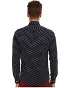 Scotch & Soda Printed Oxford Shirt with Suspender Detail Sleeves - Lyst