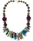 Katerina Psoma Mixed Stone Beaded Necklace - Lyst