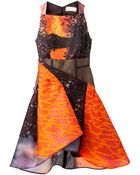 Peter Pilotto Origami Pleat Aline Dress - Lyst