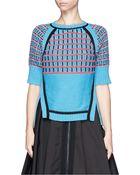 Prabal Gurung Textured Wool Knit Sweater - Lyst