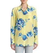 Equipment Reese Floral Silk Blouse - Lyst