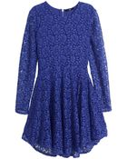 H&M Circular Lace Dress - Lyst