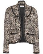 Saint Laurent Printed Cotton Jacket - Lyst
