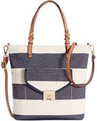 Tommy Hilfiger Postino Rugby Woven Canvas Mini Convertible Magazine Tote - Lyst