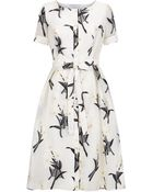 Carolina Herrera Embroidered Daisy Shirt Dress - Lyst