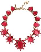 Oscar de la Renta Bold Pear Shape Jewel Necklace - Lyst