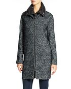Vince Camuto Wool Coat With Zip Out Bib - Lyst