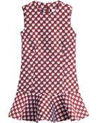 RED Valentino Printed Twill Dress - Lyst
