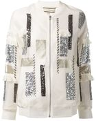 By Malene Birger Sequin Embellished Jacket - Lyst