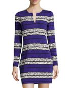 Diane von Furstenberg Reina Long-Sleeve Printed Dress - Lyst