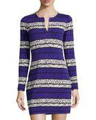 Diane von Furstenberg Reina Long-Sleeve Printed Dress - Lyst