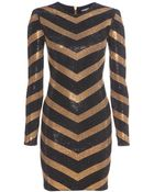 Balmain Embellished Jersey Dress - Lyst