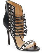 L.a.m.b. Savana Leather Sandal/Black - Lyst