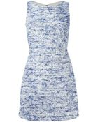Alice + Olivia Speckled Fitted Dress - Lyst