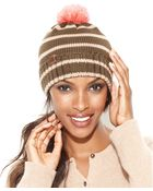 Sperry Top-sider Sperry Wool Blend Striped Watch With Pom Pom Hat - Lyst