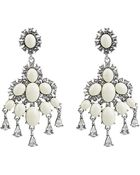 Oscar de la Renta Cabochon Chandelier Earrings - Lyst