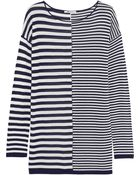 T By Alexander Wang Striped Jersey Top - Lyst