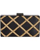 La Regale Diamond Pattern Minaudiere - Lyst