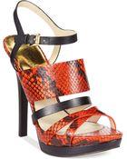 Michael Kors Michael Najia Platform Sandals - Lyst