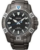 Seiko Mens Solar Dive Black Ionfinished Stainless Steel Bracelet Watch 45mm Sne281 - Lyst