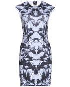 McQ by Alexander McQueen Printed Stretch Jersey Dress - Lyst