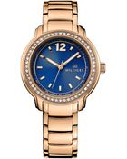 Tommy Hilfiger Women'S Rose Gold Ion-Plated Stainless Steel Bracelet Watch 36Mm 1781503 - Lyst