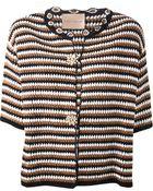 Erika Cavallini Semi Couture Crochet-Knit Cotton Cardigan - Lyst