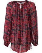 Rachel Zoe Long Sleeve Blouse - Lyst