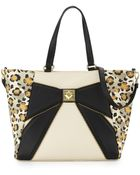 Betsey Johnson Leopard-Print Bow Tote Bag - Lyst