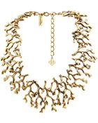 Oscar de la Renta Coral-Branch Necklace - Lyst