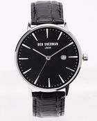 Ben Sherman Black Leather Strap Watch Wb001B - Lyst