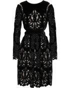 Erdem Franzi Laser-Cut Embroidered Velvet Dress - Lyst