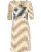 Carven Zigzag Tweed Panel Dress - Lyst