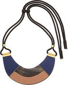 Marni Leather And Horn Necklace - Lyst