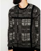 Asos Checked Sweater With Mohair - Lyst