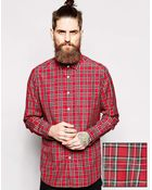 Asos Shirt In Long Sleeve With Plaid Check - Lyst