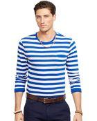 Polo Ralph Lauren Striped Jersey Crewneck Shirt - Lyst