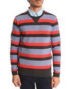 Marc By Marc Jacobs Bill Stripe Blue Striped Sweater - Lyst