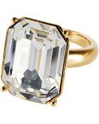 Lauren by Ralph Lauren Swarovski Crystal Solitaire Ring - Lyst