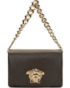 Versace Black Studed Medusa Shoulder Bag - Lyst