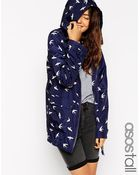 Asos Tall Pac A Trench In Swallow Print - Lyst